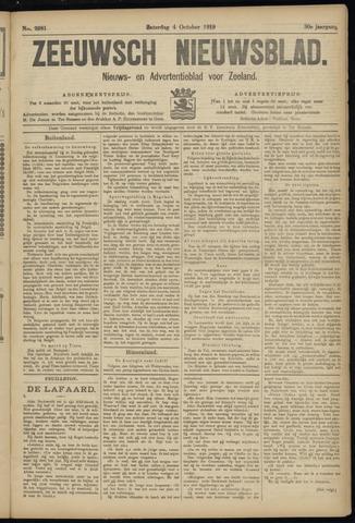 Ter Neuzensch Volksblad. Vrijzinnig nieuws- en advertentieblad voor Zeeuwsch- Vlaanderen / Zeeuwsch Nieuwsblad. Nieuws- en advertentieblad voor Zeeland 1919-10-04
