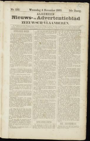 Ter Neuzensche Courant. Algemeen Nieuws- en Advertentieblad voor Zeeuwsch-Vlaanderen / Neuzensche Courant ... (idem) / (Algemeen) nieuws en advertentieblad voor Zeeuwsch-Vlaanderen 1863-11-04