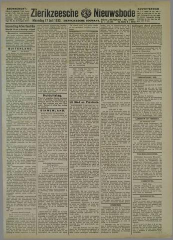 Zierikzeesche Nieuwsbode 1933-07-17