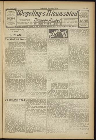 Zeeuwsch Nieuwsblad/Wegeling's Nieuwsblad 1931-10-09