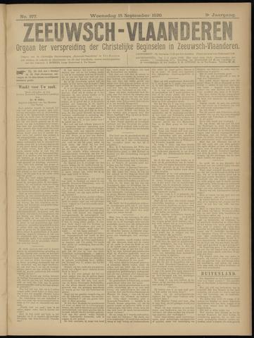 Luctor et Emergo. Antirevolutionair nieuws- en advertentieblad voor Zeeland / Zeeuwsch-Vlaanderen. Orgaan ter verspreiding van de christelijke beginselen in Zeeuwsch-Vlaanderen 1920-09-15