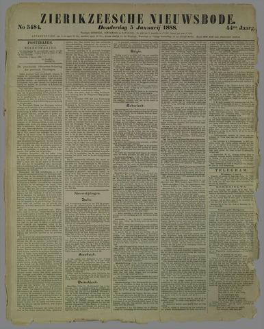 Zierikzeesche Nieuwsbode 1888-01-05