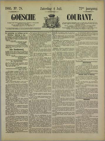 Goessche Courant 1885-07-04