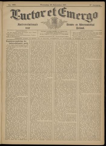Luctor et Emergo. Antirevolutionair nieuws- en advertentieblad voor Zeeland / Zeeuwsch-Vlaanderen. Orgaan ter verspreiding van de christelijke beginselen in Zeeuwsch-Vlaanderen 1917-11-28