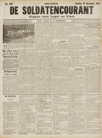 De Soldatencourant. Orgaan voor Leger en Vloot 1916-12-10