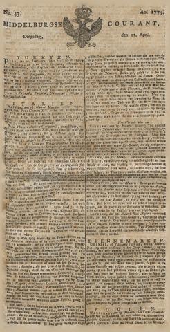 Middelburgsche Courant 1775-04-11