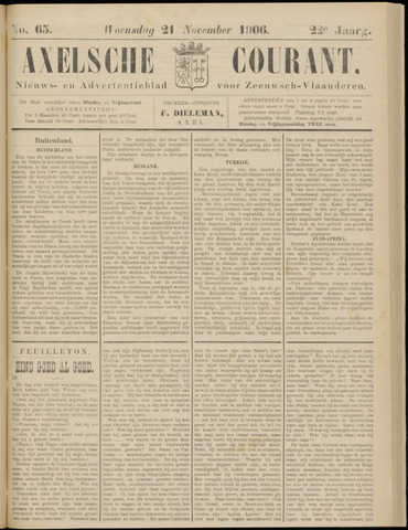 Axelsche Courant 1906-11-21