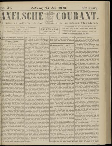 Axelsche Courant 1920-07-24