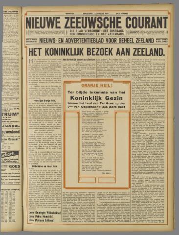 Nieuwe Zeeuwsche Courant 1924-08-07