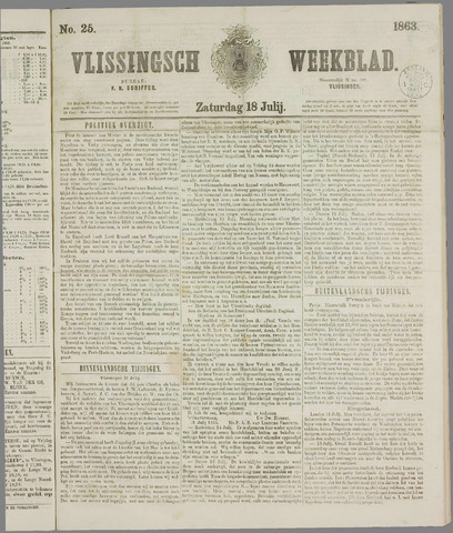 Vlissings Weekblad 1863-07-18