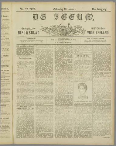 De Zeeuw. Christelijk-historisch nieuwsblad voor Zeeland 1902-01-18