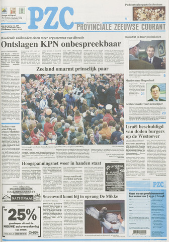 Provinciale Zeeuwse Courant 2001-10-26