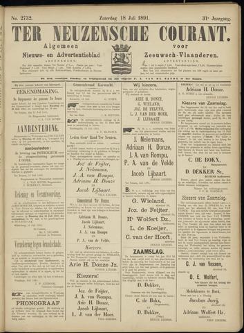Ter Neuzensche Courant. Algemeen Nieuws- en Advertentieblad voor Zeeuwsch-Vlaanderen / Neuzensche Courant ... (idem) / (Algemeen) nieuws en advertentieblad voor Zeeuwsch-Vlaanderen 1891-07-18