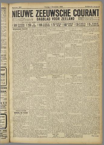Nieuwe Zeeuwsche Courant 1922-12-01