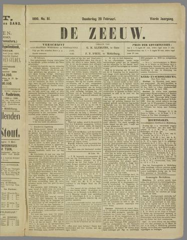 De Zeeuw. Christelijk-historisch nieuwsblad voor Zeeland 1890-02-20