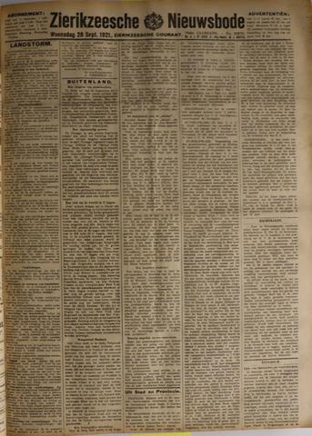 Zierikzeesche Nieuwsbode 1921-09-28