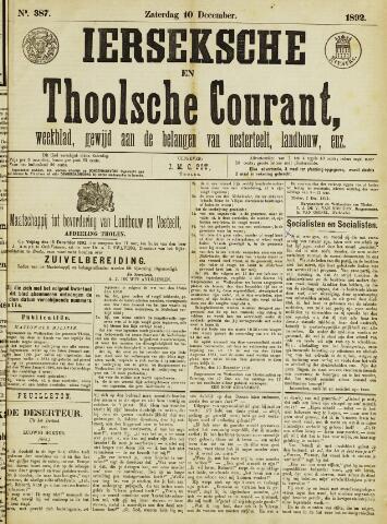 Ierseksche en Thoolsche Courant 1892-12-10