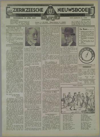 Zierikzeesche Nieuwsbode 1937-04-29