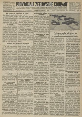 Provinciale Zeeuwse Courant 1942-04-24