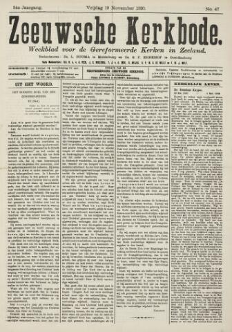 Zeeuwsche kerkbode, weekblad gewijd aan de belangen der gereformeerde kerken/ Zeeuwsch kerkblad 1920-11-19