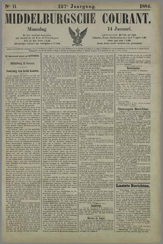 Middelburgsche Courant 1884-01-14