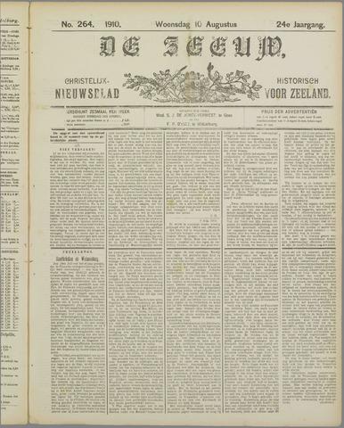 De Zeeuw. Christelijk-historisch nieuwsblad voor Zeeland 1910-08-10