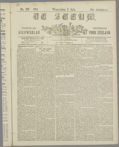 De Zeeuw. Christelijk-historisch nieuwsblad voor Zeeland 1912-07-03