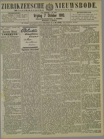 Zierikzeesche Nieuwsbode 1910-10-07