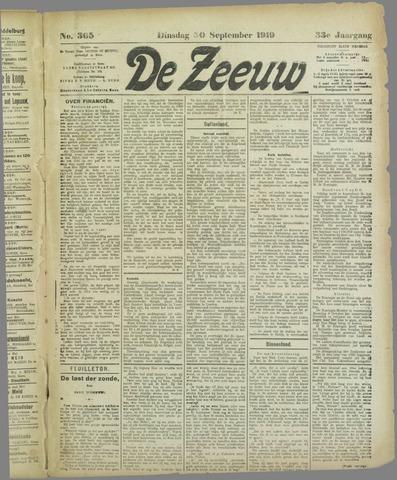 De Zeeuw. Christelijk-historisch nieuwsblad voor Zeeland 1919-09-30