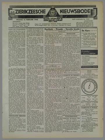 Zierikzeesche Nieuwsbode 1940-02-16