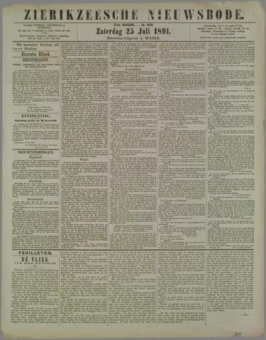 Zierikzeesche Nieuwsbode 1891-07-25