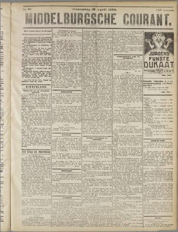 Middelburgsche Courant 1922-04-19
