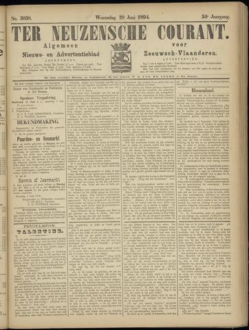 Ter Neuzensche Courant. Algemeen Nieuws- en Advertentieblad voor Zeeuwsch-Vlaanderen / Neuzensche Courant ... (idem) / (Algemeen) nieuws en advertentieblad voor Zeeuwsch-Vlaanderen 1894-06-20
