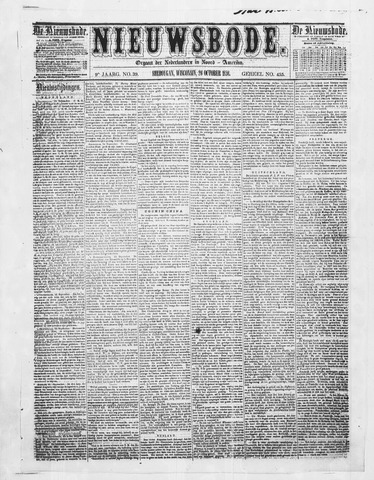 Sheboygan Nieuwsbode 1858-10-26