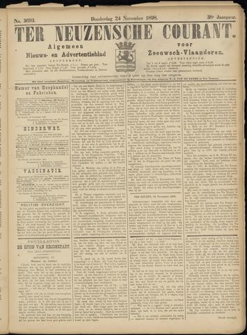 Ter Neuzensche Courant. Algemeen Nieuws- en Advertentieblad voor Zeeuwsch-Vlaanderen / Neuzensche Courant ... (idem) / (Algemeen) nieuws en advertentieblad voor Zeeuwsch-Vlaanderen 1898-11-24