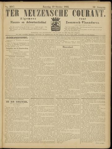 Ter Neuzensche Courant. Algemeen Nieuws- en Advertentieblad voor Zeeuwsch-Vlaanderen / Neuzensche Courant ... (idem) / (Algemeen) nieuws en advertentieblad voor Zeeuwsch-Vlaanderen 1895-10-19