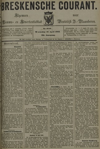 Breskensche Courant 1913-04-16
