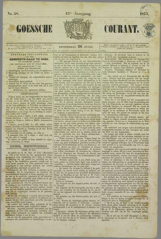 Goessche Courant 1855-07-26