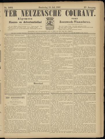 Ter Neuzensche Courant. Algemeen Nieuws- en Advertentieblad voor Zeeuwsch-Vlaanderen / Neuzensche Courant ... (idem) / (Algemeen) nieuws en advertentieblad voor Zeeuwsch-Vlaanderen 1897-07-15