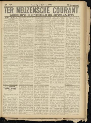 Ter Neuzensche Courant. Algemeen Nieuws- en Advertentieblad voor Zeeuwsch-Vlaanderen / Neuzensche Courant ... (idem) / (Algemeen) nieuws en advertentieblad voor Zeeuwsch-Vlaanderen 1923-10-15