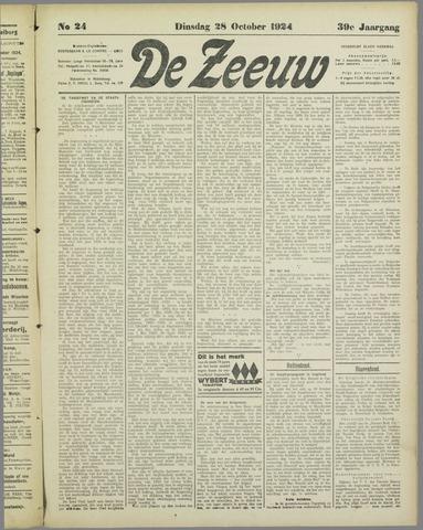 De Zeeuw. Christelijk-historisch nieuwsblad voor Zeeland 1924-10-28