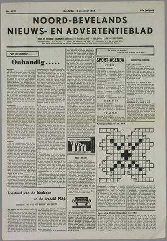 Noord-Bevelands Nieuws- en advertentieblad 1985-12-19