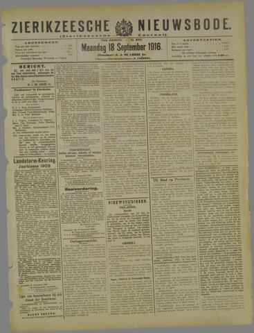 Zierikzeesche Nieuwsbode 1916-09-18