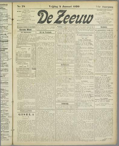 De Zeeuw. Christelijk-historisch nieuwsblad voor Zeeland 1920