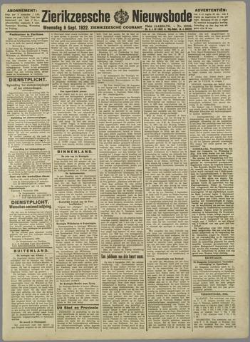 Zierikzeesche Nieuwsbode 1922-09-06