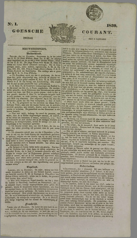 Goessche Courant 1839