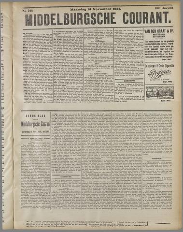 Middelburgsche Courant 1921-11-14
