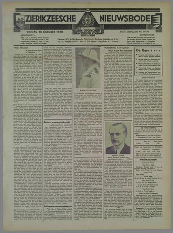 Zierikzeesche Nieuwsbode 1940-10-18