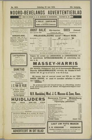Noord-Bevelands Nieuws- en advertentieblad 1929-06-22