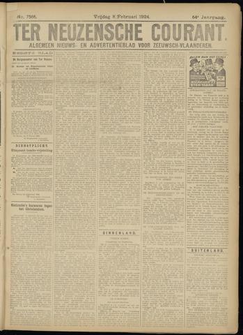 Ter Neuzensche Courant. Algemeen Nieuws- en Advertentieblad voor Zeeuwsch-Vlaanderen / Neuzensche Courant ... (idem) / (Algemeen) nieuws en advertentieblad voor Zeeuwsch-Vlaanderen 1924-02-08